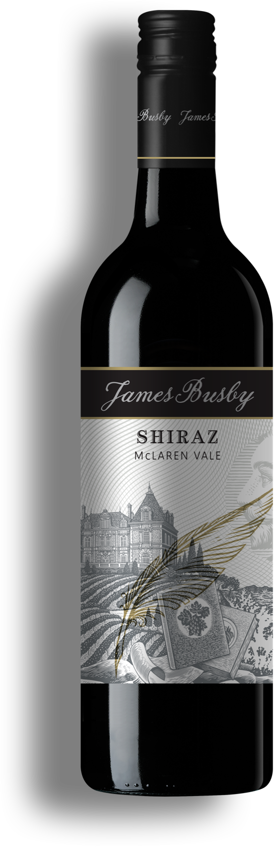 Shiraz wine bottle